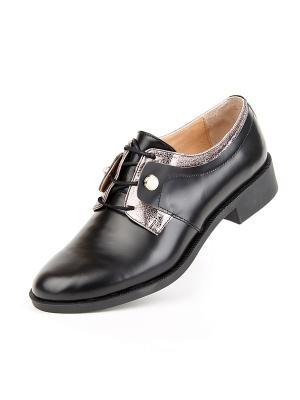 Туфли Lottini. Цвет: черный, серебристый