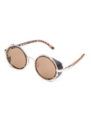 Солнцезащитные очки KEDDO. Цвет: бежевый