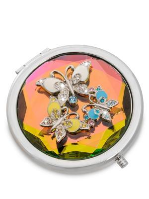 Зеркальце серебристое Бабочки Win. Цвет: серебристый