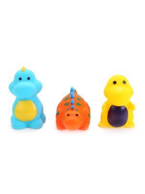 Игрушки для ванной 3 дракона в сетке. Играем вместе. Цвет: синий, желтый, красный