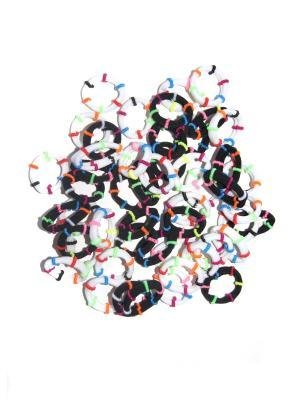 Резиночки, 50 шт Lola. Цвет: белый, синий, зеленый, оранжевый