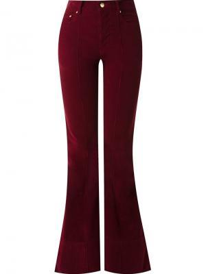 Расклешенные брюки Amapô. Цвет: красный