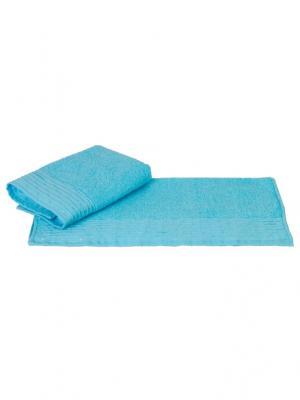 Махровое полотенце 50x90 GOFRE аква,100% хлопок HOBBY HOME COLLECTION. Цвет: бирюзовый