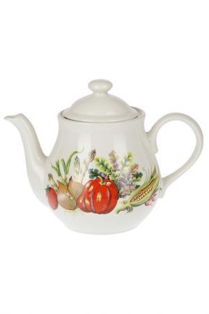 Чайник Овощи 1,5 л Melba. Цвет: белый