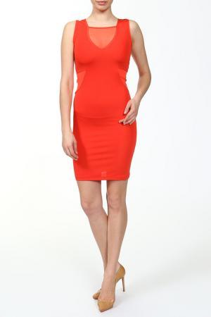 Прилегающее платье с прозрачными вставками Faith Connexion. Цвет: оранжевый