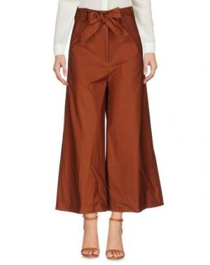 Повседневные брюки MESSAGERIE. Цвет: коричневый