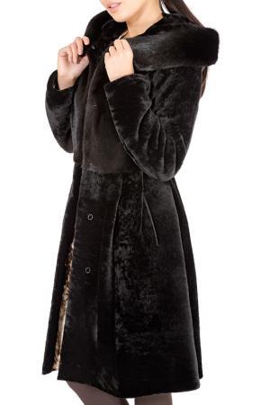 Шуба ALIANCE FUR. Цвет: темно-коричневый