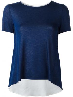 Расклешенная футболка Dondup. Цвет: синий