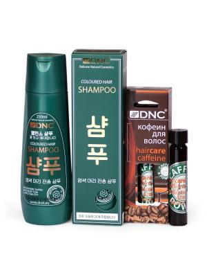 Набор для ухода за волосами: Шампунь окрашенных (без SLS, 250 мл) и Кофеин волос (26 DNC. Цвет: прозрачный, светло-желтый