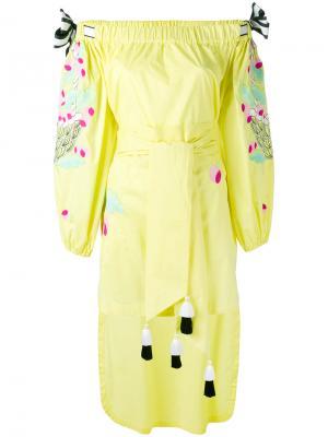 Платье Cherry Yuliya Magdych. Цвет: жёлтый и оранжевый
