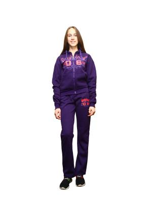 Костюм спортивный PROFFI. Цвет: фиолетовый
