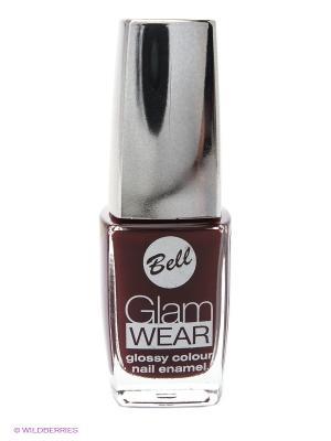 Устойчивый лак для ногтей с глянцевым эффектом Glam Wear, тон 413 Bell. Цвет: бордовый