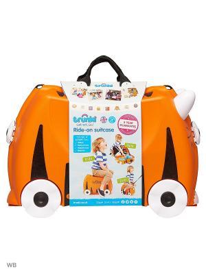 Чемодан на колесиках Тигр TRUNKI. Цвет: оранжевый, черный