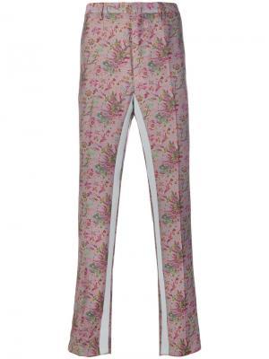 Брюки-чинос с цветочным принтом Lanvin. Цвет: розовый и фиолетовый