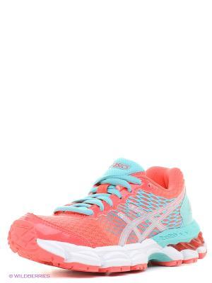 Спортивная обувь GEL-NIMBUS 18 GS ASICS. Цвет: розовый, серый, синий