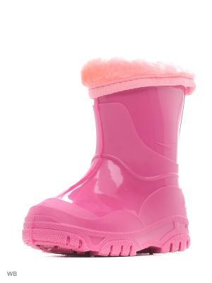 Резиновые сапоги Каури. Цвет: розовый