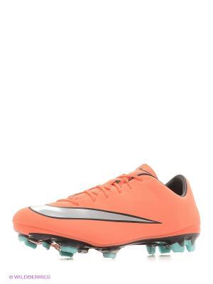 Бутсы MERCURIAL VELOCE II FG Nike. Цвет: антрацитовый, темно-коричневый, розовый