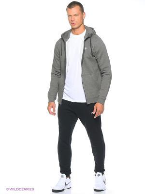 Толстовка M NSW HOODIE FZ FLC CLUB Nike. Цвет: темно-серый, белый