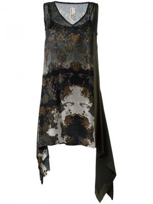 Платье с узором пейсли Antonio Marras. Цвет: зелёный