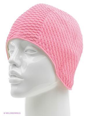 Шапочка плавательная Бабл-кап Larsen. Цвет: розовый