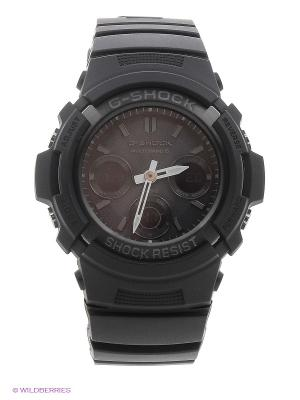 Часы G-SHOCK AWG-M100B-1A CASIO. Цвет: черный