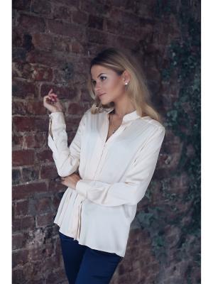 Блузка Kim Wooly's. Цвет: бежевый