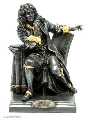 Статуэтка Мольер Veronese. Цвет: темно-серый, золотистый