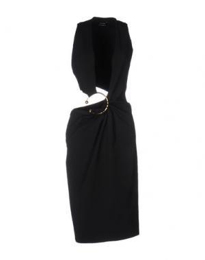 Платье до колена ANTHONY VACCARELLO. Цвет: черный