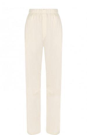 Однотонные брюки прямого кроя с эластичным поясом Mm6. Цвет: бежевый