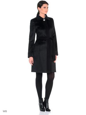 Пальто женское 21-16  1838/123 3XL2 Lea Vinci. Цвет: черный