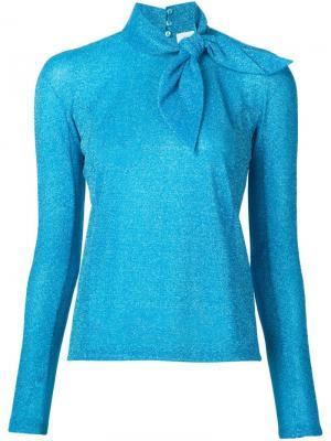 Блузка с бантом Delpozo. Цвет: синий