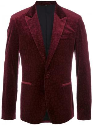 Пиджак с леопардовым принтом Roberto Cavalli. Цвет: красный