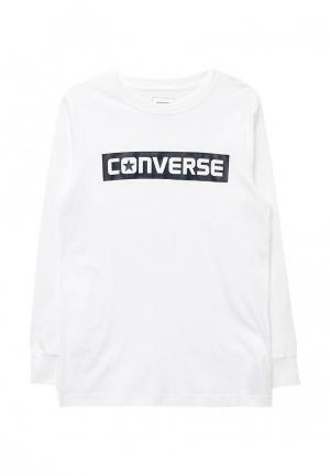 Лонгслив Converse. Цвет: белый