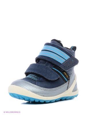 Ботинки ECCO. Цвет: голубой, синий