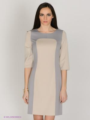Платье Capriz. Цвет: бежевый, серо-голубой