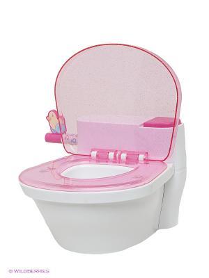 Игрушка Унитаз ZAPF. Цвет: розовый
