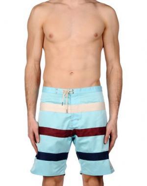 Пляжные брюки и шорты IRON AND RESIN. Цвет: небесно-голубой