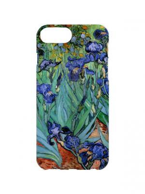 Чехол для iPhone 7Plus Ван Гог - Ирисы Арт. 7Plus-059 Chocopony. Цвет: синий, зеленый