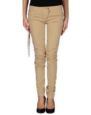 Повседневные брюки GET LOST. Цвет: бежевый