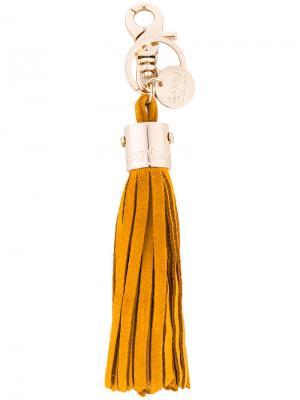 Брелок с кисточкой See By Chloé. Цвет: жёлтый и оранжевый