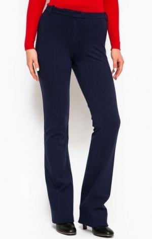 Расклешенные брюки из вискозы с добавлением полиамида Pinko. Цвет: синий