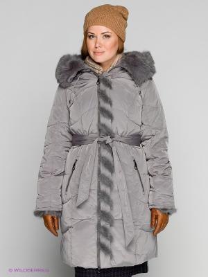 Пальто X'cluSIve. Цвет: серый