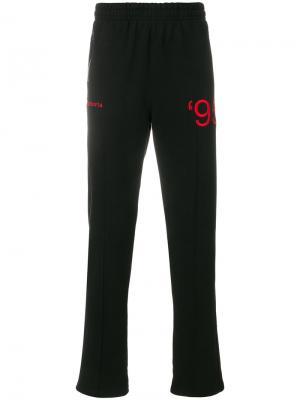 Спортивные брюки с вышивкой Misbhv. Цвет: чёрный