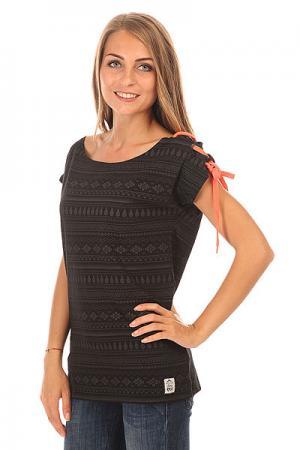 Футболка женская  Moorea Black Picture Organic. Цвет: черный