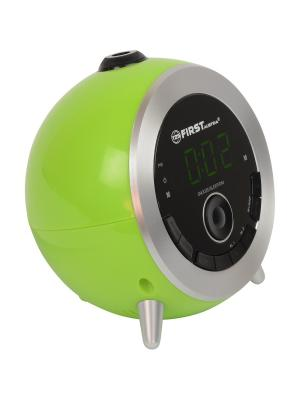 Радио-часы FIRST. Цвет: зеленый