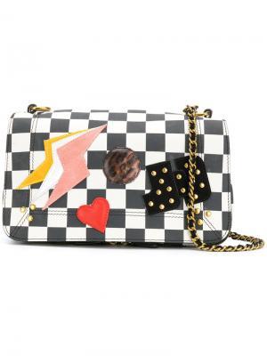 Checkerboard bag with patchwork appliqué Jérôme Dreyfuss. Цвет: чёрный