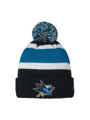 Шапка NHL Sharks Atributika & Club. Цвет: черный, белый, бирюзовый