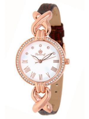 Часы наручные Romanoff. Цвет: коричневый, белый, золотистый