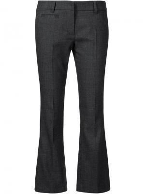 Расклешенные брюки строгого кроя Brunello Cucinelli. Цвет: серый