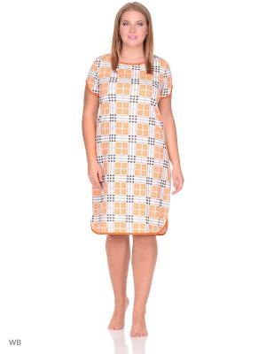 Ночная сорочка Letto. Цвет: оранжевый